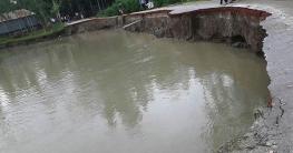 মির্জাপুরে কমছে বন্যার পানি ভাঙছে নদী